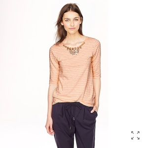 J. Crew Jeweled painter T-shirt in stripe